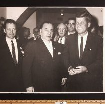Image of Photograph - Photo - JFK, Mayor Daley, Otto Kerner