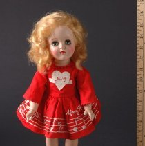 Image of AR_00225 - Mary Hartline Majorette Doll in Red Dress (Large Size)