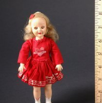 Image of AR_00227 - Mary Hartline Majorette Doll in Red Dress (Small size)