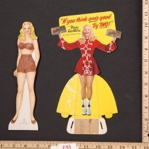Image of AR_00241 - Mary Hartline Paper Doll w/Dress Cutout Sheet