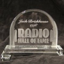 Image of Plaque, Award - Radio Hall of Fame induction plaque - Jack Brickhouse