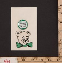 """Image of Button, Promotional - Wieboldts """"Cinnamon Bear"""" Button"""