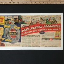 Image of AR_00034 - Poster - Lone Ranger Pedometer/Cheerios
