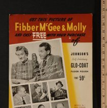 Image of AR_00013 - Poster - Fibber McGee and Molly: Autographed Johnson's Glo-Coat