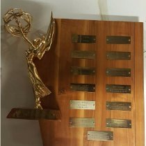 Image of EX_12.18 - NATAS plaque listing Emmy nominations and wins for Lucille Ball from 1951 to 1967
