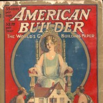 """Image of American Builder - American Builder, April, 1926, is a catalog which contains lists of : Building Materials, Building Equipment, Contractor's Equipment and Tools.  The Editorial Page features  comments on building conditions.  There are 8 plates of Notable Architecture for the year 1926 :  The New Masonic Temple in St. Louis, MO Northwestern University, Chicago Church of the Blessed Sacrament, Seattle New Hospital for Joint Diseses, New York City The Court and Remsen Building, Brooklyn, NY The Tower Theater Building, Chicago The Hotel Capital Building, Lincoln, NE High  School at Rutland, VT  Other featured articles in this issue are:  Progress in Educational Equipment,  Cafeteria in Flint, MI High School, Steam Tables in the Saginaw High School,  and  Architectural Drafting Room at Boys' Technical High School in Milwaukee.  The advertisements may be of interest to those researching older buildings.  """"Concrete Floors Made Beautiful for  Private Residences"""" is an article that still holds worth for  today's  builders.  There is an Advertisers Index, a Classified Directory and Buyers' Guide, and a Handy Reference Data Index included in this issue."""
