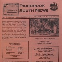 Image of Pinebrook South News - Monthly newsletter of Pinebrook South Homeowners' Association, Vol. 9, no. 6, June 2007