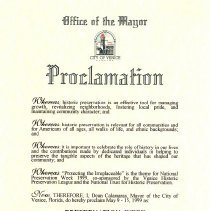 Image of 2008.10.0005 Proclamation