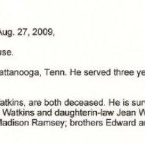 Image of Watkins, Melvin L. - Watkins, Melvin L. 2009  Aug 29