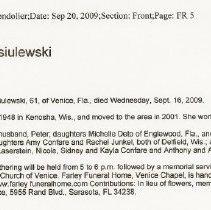 Image of Wasiulewski, Renee Patterson - Wasiulewski, Renee Patterson 2009 Sept 16