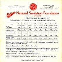 Image of Eclipse National Sanitation Foundation Price List - Eclipse National Sanitation Foundation Price List 7/1/1959 (2 copies)