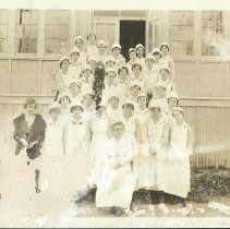 Image of General Hospital No. 3, Miss Swenson and nurses, Colonia, New Jersey, 1916