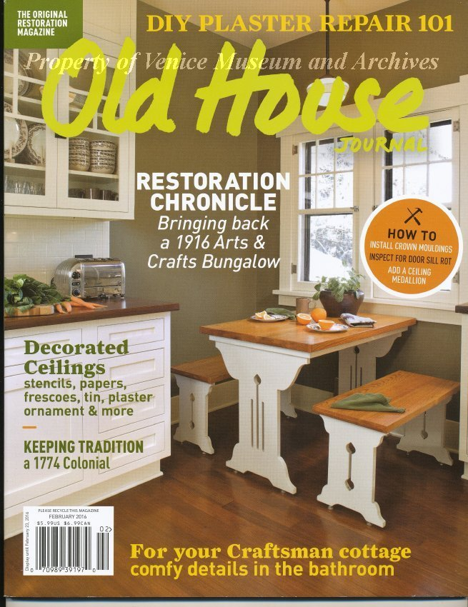 old house journal old house journal magazine february 2016 article on venezia park venice florida on pages 40 41 a national register district in the