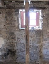 Image of Detail of exposed masonry joints of original 1716 doorway (SEE NOTES)