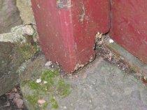 Image of Mouns Jones, damage to door jamb (2009)