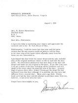 Image of Letter re: DeTurk door (1969)