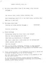 Image of Mrs. Hottendtein's original list of queries