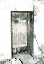 Image of DeTurk house, interior doorway through west wall from former kitchen (1973)