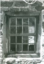 Image of DeTurk, first floor south window, east eaves wall (1973)