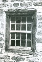 Image of Deturk House, first floor window in south gable wall (1973)