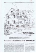 Image of Keim Farmstead, article re: American Folklife Society Plans (1975)