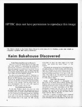 Image of Article re: Keim bakehouse, page 1 of 2 (1974)