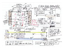 Image of Jacob Keim House, reconstructed cellar entry, field notes drawing #1 (2011)
