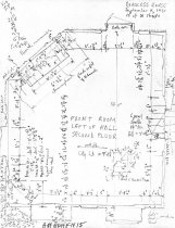 Image of George Douglass House, unfiled HABS field notes drawings, #15 (1990)