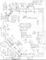 Image of George Douglass House, unfiled HABS field notes drawings, #17 (1990)