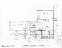 Image of George Douglass House, unfiled HABS field notes drawings, #5 (1990)