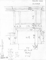 Image of George Douglass House, unfiled HABS field notes drawings, #26 (1990)