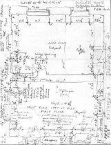 Image of George Douglass House, unfiled HABS field notes drawings, #8 (1990)