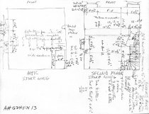 Image of George Douglass House, unfiled HABS field notes drawings, #13 (1990)
