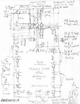 Image of George Douglass House, unfiled HABS field notes drawings, #14 (1990)