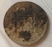 Image of Reverse 2 Reales Spanish Coin