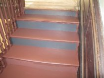 Image of 250: Miss-matched Douglass House stair-riser color