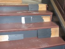 Image of 339: Color samples on wood to match to historic standard