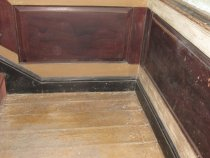 """Image of 346: 2d period grain-painted """"wainscot"""" panels on stair landing"""