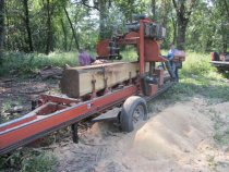 Image of 9998: Portable saw-mill producing locust posts and boards