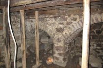 Image of Fireplace supports vault [right] & abutting vault in Douglass cellar