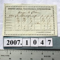 Image of Card, Report -