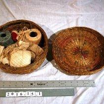 Image of Basket, Needlework -