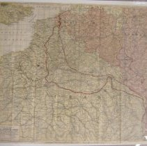 Image of 1914 European battlefield map