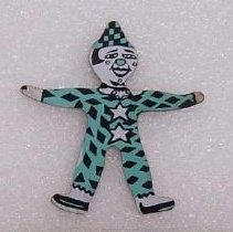 Image of Toy - Tin clown toy