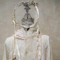 Image of Wedding dress, headpiece & veil: Ella Lenz Schmidt, 1923-back view
