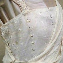 Image of Wedding dress attached camisole detail: Ella Lenz Schmidt, 1923