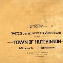 Image of Map - Map: W. T. Bonniwell's Addition, Hutchinson, MN