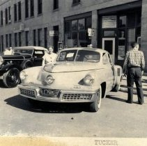 Image of c. 1940 Tucker automobile (right)