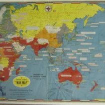 Image of 1944 D-Day World War II map