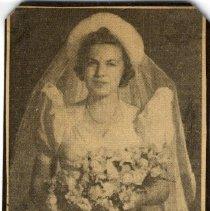 Image of Print, Photographic - Cora Jane Speakes/Mrs. Bower Hawthorne m. Sept 14, 1939